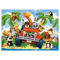 Castorland - Puzzle 60 pièces : Animaux en safari