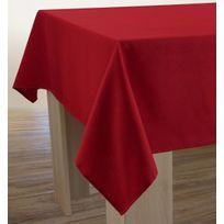 Le Linge De Jules - Nappe Unie - Anti-taches Rouge - taille : Rectangle 150x200 cm