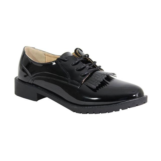 Alistair By Shoes Derbies Avec Dentelle Bi Matière - Femme - Taille 36 - Black