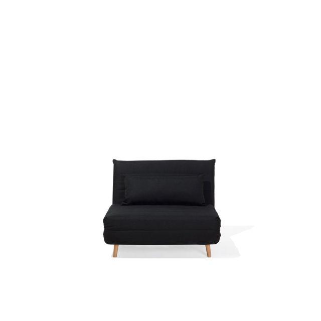 BELIANI Canapé convertible en tissu noir SETTEN - noir