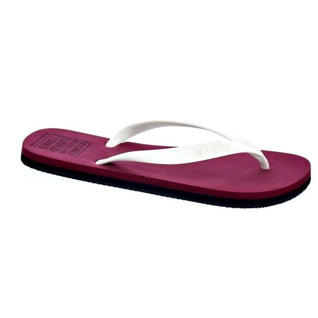 Ecoalf Chaussures Femme Tongs modele Flip Flop Roan Rouge