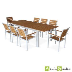 ALICE\'S GARDEN - Seattle Marron - Salon de jardin 8 fauteuils ...