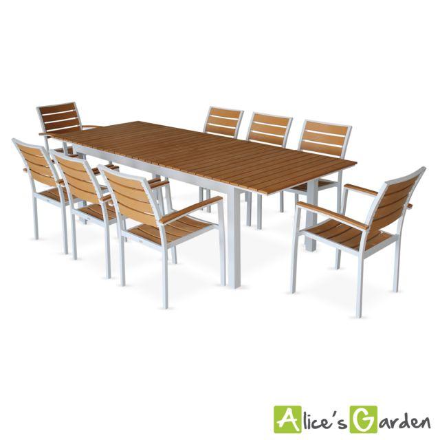 Alice\'s Garden - Salon de jardin 8 fauteuils, table à ...