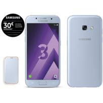 Samsung - Galaxy A3 2017 - Bleu + Neon Flip Cover Galaxy A3 2017 - Bleu