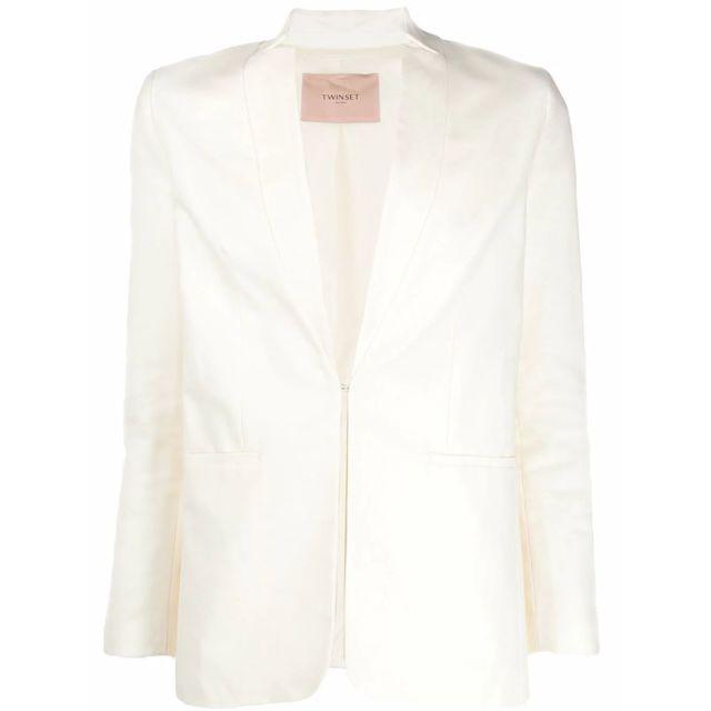 TWIN-SET Femme 201TP225200282 Blanc Coton Blazer