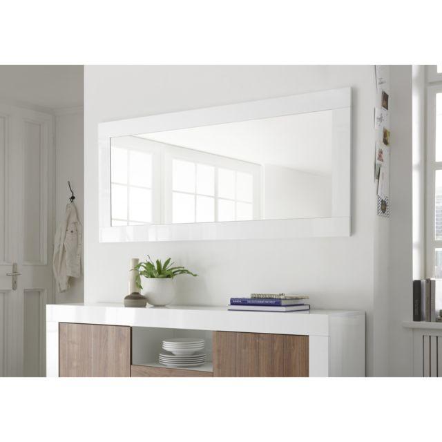 Subleem Miroir Grumo Blanc laqué