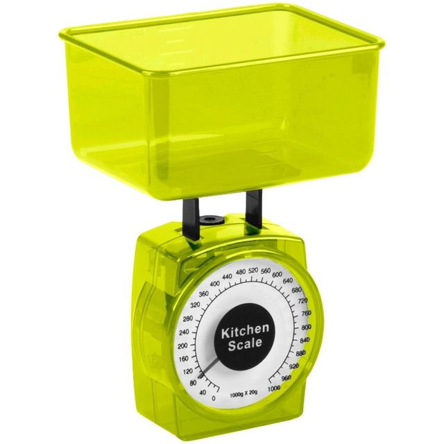 Promobo Mini Balance Cuisine patisserie Design City Vert 0 à 1000g à 20g prés
