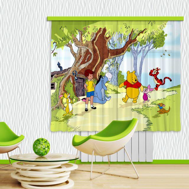 bebe gavroche rideaux winnie l 39 ourson et ses amis disney. Black Bedroom Furniture Sets. Home Design Ideas