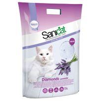 Sanicat - Litière Diamonds Lavande pour Chat - 15L