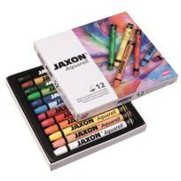 Jaxon - Lot De 12 Crayons Aquarelle Couleurs Assorties
