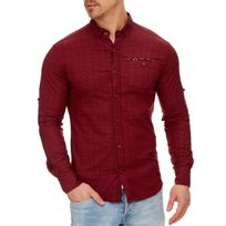 Tazzio - Chemise tendance pour homme Chemise 708 rouge bordeaux