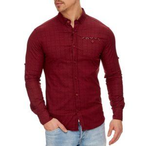 tazzio chemise tendance pour homme chemise 708 rouge bordeaux xl pas cher achat vente. Black Bedroom Furniture Sets. Home Design Ideas
