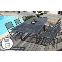 Dcb Garden - Ensemble table et 6 chaises perforées