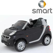 Petite Voiture électrique For Two pour enfant siège cuir 12V Noir version luxe