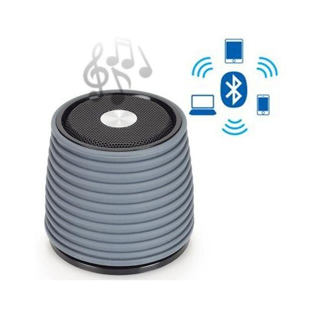 Totalcadeau Enceinte Bluetooth Rechargeable - Haut parleur pour smartphone Couleur - Noir