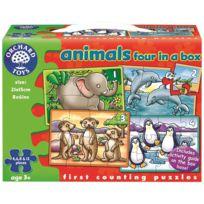 - puzzles progressifs animaux exotiques - boite de 4