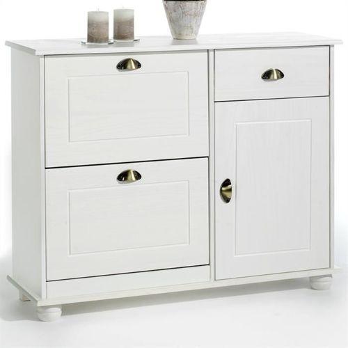idimex meuble chaussures abattant rangement pin massif. Black Bedroom Furniture Sets. Home Design Ideas