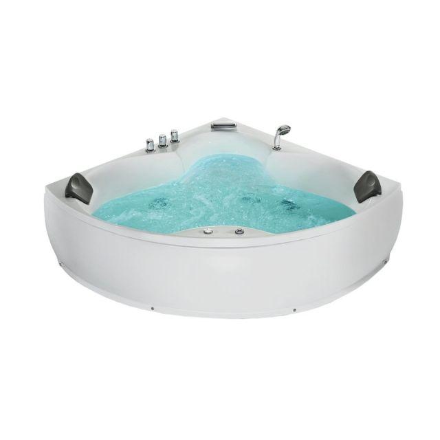 soldes beliani baignoire avec hydromassage spa d angle. Black Bedroom Furniture Sets. Home Design Ideas