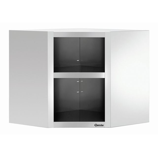 Bartscher Armoire d'angle murale ouverte