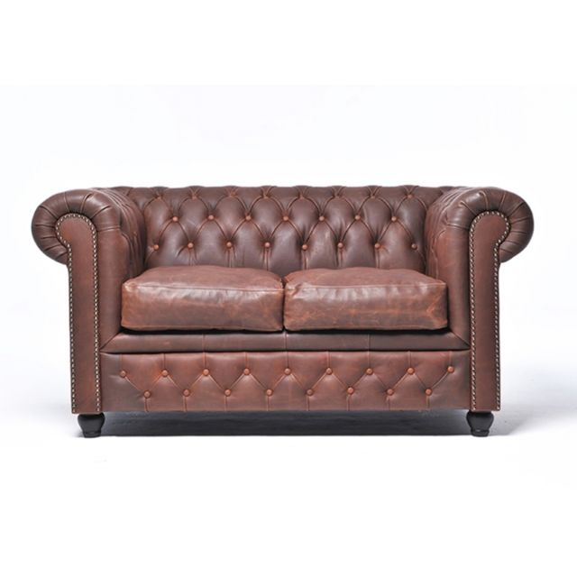 CHESTERFIELD Vintage 2 places Brun