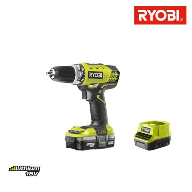 RYOBI - Perceuse-visseuse 18V OnePlus - 1 batterie Lithium 1.3Ah - chargeur rapide RCD18-113S