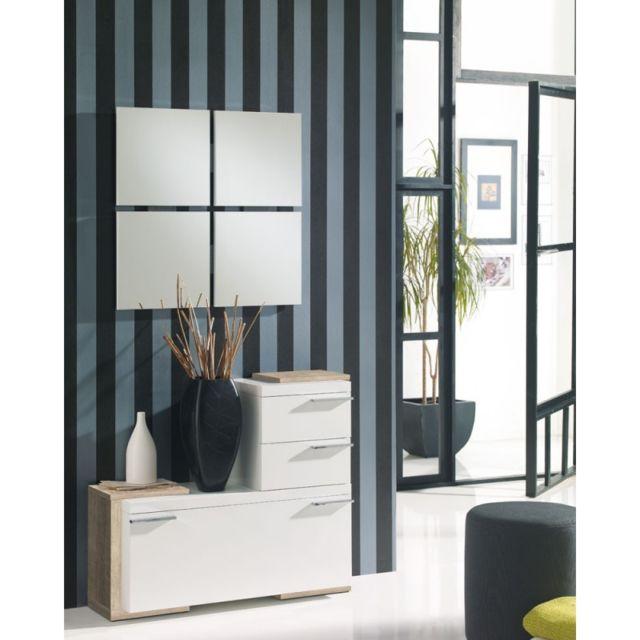 tousmesmeubles meuble dentre blancchne clair miroirs roustine
