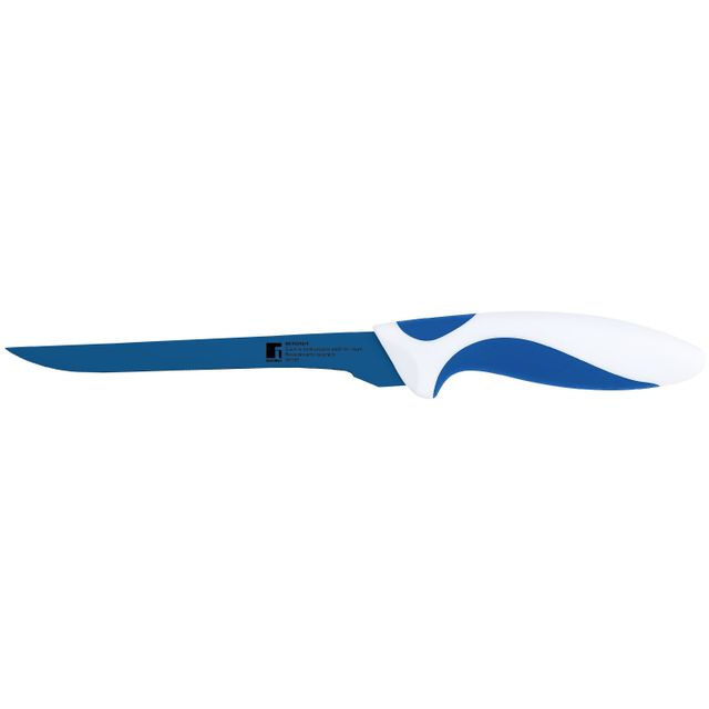 Bergner Couteau revêtement céramique blanc et bleu 16,5 cm