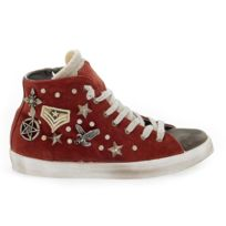 buy popular 3bf1b 53e97 Beverly Hills Polo Club - Femme Polopd634 Rouge SuÈDE Baskets Montantes
