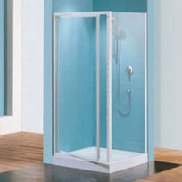Novellini - Porte douche pivotante verre transparent Riviera G - 78 à 82 cm