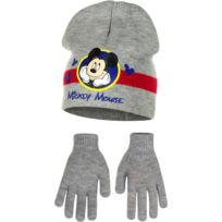3cb3fd29fbb Marque Generique - Bonnet Gants Mickey Mouse Gris Taille 54 Disney enfant