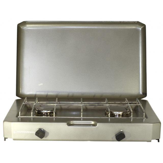 Providus - Plaque de cuisson Ft 200. Rechaud camping gaz 2 feux pour  bouteille de 7932fddea4b1