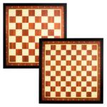 Abbey Game - Jeu de dames et d'échecs avec bordure marron