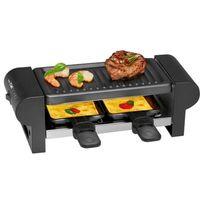 Clatronic - Raclette pour 2 personnes 400W Rg 3592, noir