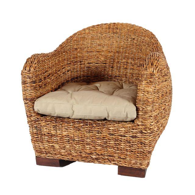 Rotin-design Soldes: -37% Fauteuil en abaca Azur - Rotin Design