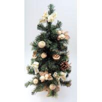 Somoplast - Sapin de Noël artificiel - Avec décoration ivoire et doré