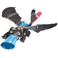 Dragons - Krokmou Tir Et Rugie - Figurine Electronique 35 Cm + Projectiles