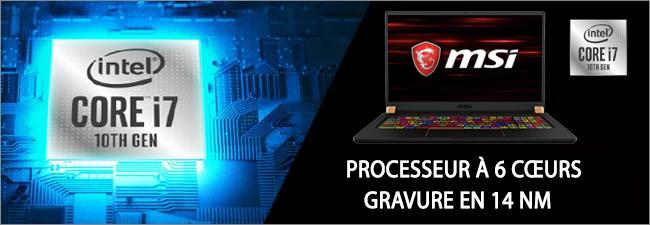 MSI GS75 Stealth - Processeur Intel Core i7 10th