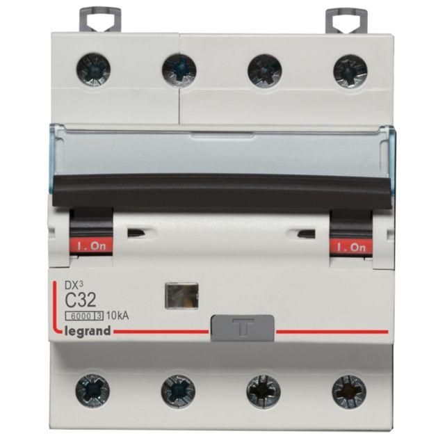 vis disjoncteur diff/érentiel legrand dx3 20a courbe c 30ma 2 poles type hpi 6ka auto