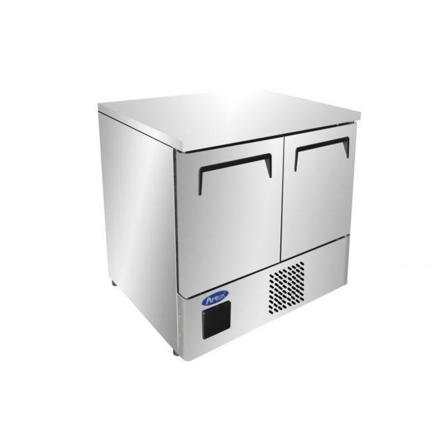 Atosa Table Réfrigérée Négative Inox 210 L - 2 Portes Gn1/1 R290 2 Portes 759 mm Battante