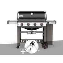Weber - Barbecue gaz Genesis II E-410 GBS Noir + Kit Ustensile