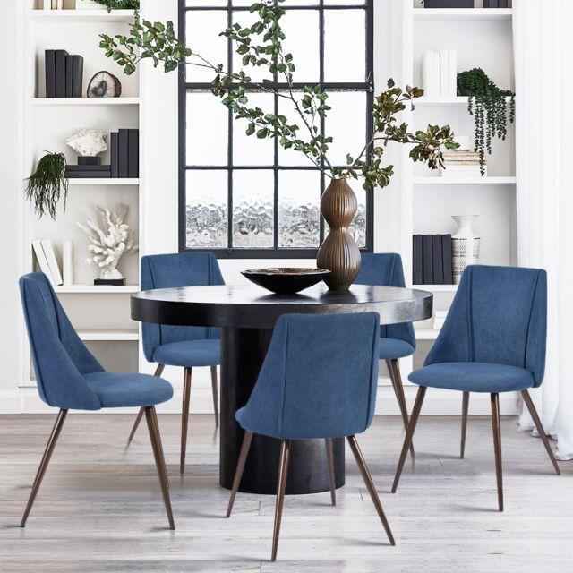 Urban Meuble Lot de 2 chaises de salle à manger en tissu