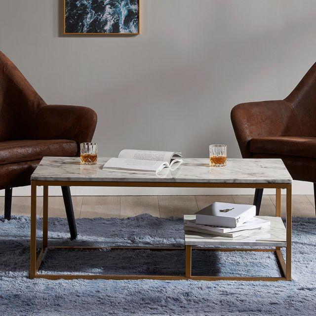 Moderne Marbre Pour Versanora Effet Table Vnf Basse Marmo Salon GUMSVqzp