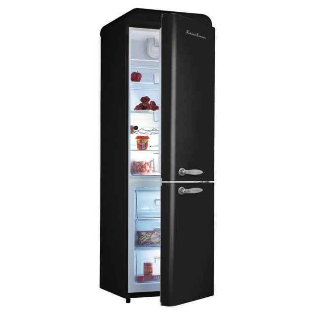 delightful refrigerateur noir pas cher 9 schaub lorenz sl300cbb r frig rateur vintage noir mat. Black Bedroom Furniture Sets. Home Design Ideas