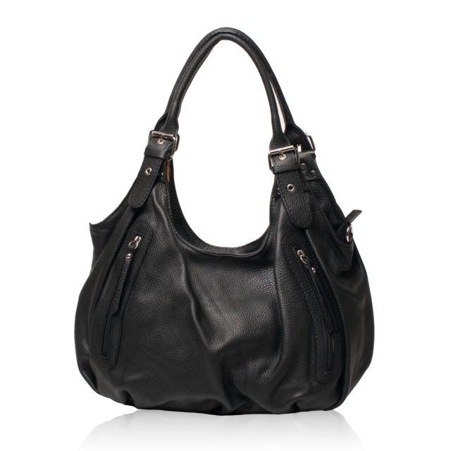 Oh My Bag - Sac à Main Cuir femme - Modèle St trop' noir