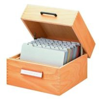 Han - 1005 Boîte à fiches en bois Capacité : max. 1500 fiches A5 paysage 255 x 190 x 380 mm Import Allemagne