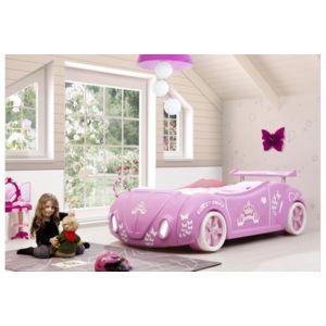 chloe decoration lit enfant voiture cocci pour fille phare led rose pas cher achat. Black Bedroom Furniture Sets. Home Design Ideas