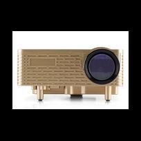 Auto-hightech - Mini Projecteur vidéo - 60 Lumens, 300: 1, affichables 1,67 millions de couleurs, entrée: Av / Vga / Usb / Sd / Hdmi