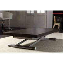 La Seggiola - Table basse relevable extensible Lift Wood wengé