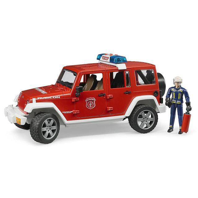 Bruder 02528 Jeep Wrangler Unlimited Rubicon véhicule de pompier avec figurine