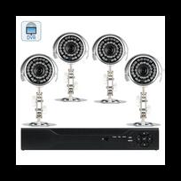 Auto-hightech - Système 4 cameras de surveillance extérieures Dvr + 4 canaux Visualisation à distance